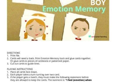 Emotion Memory Game: Boy