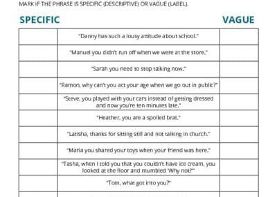 Observe and Describe: Making Description Clear Worksheet