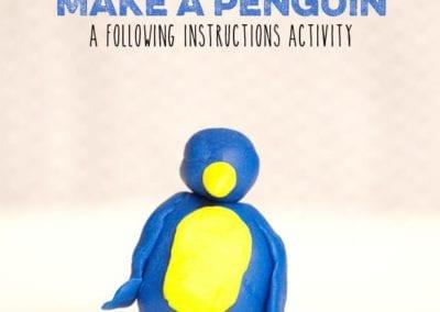 Following Instructions: Make a Playdough Penguin