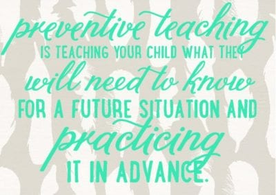 Preventive Teaching: Is About the Future Quote