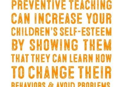 Preventive Teaching: Increase Self-Esteem Quote