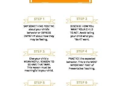 Steps of Preventive Teaching