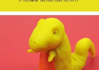 Following Instructions: Make a Playdough T-Rex