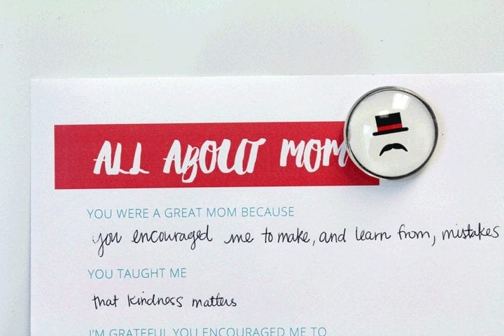 All about mom. A Mother's Day printable