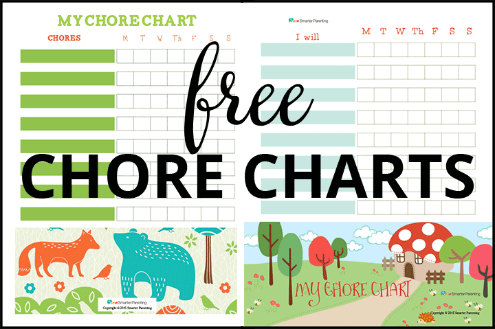 Creating routine with free forrest chore charts