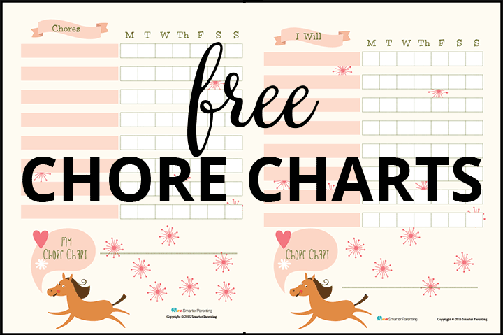 Creating routine with free horse chore charts