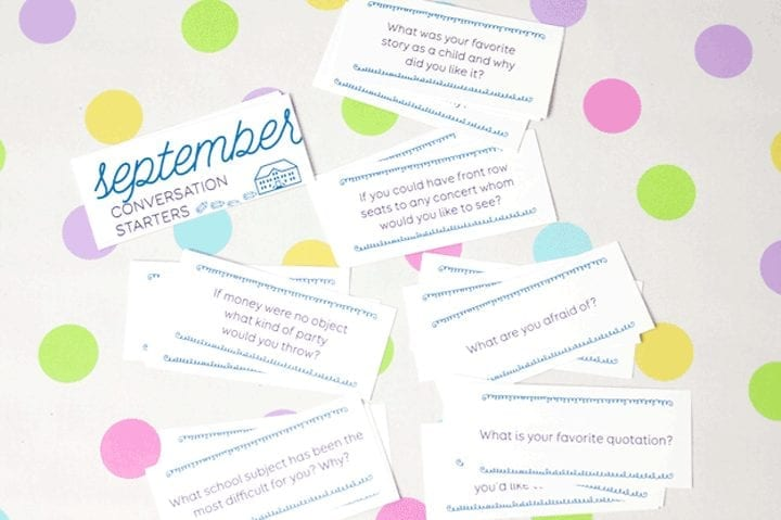 Monthly conversation starters: September