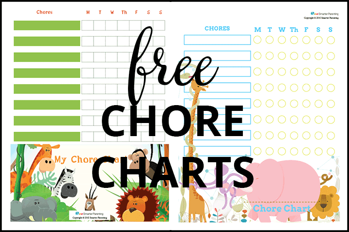 Creating routine with free jungle chore charts