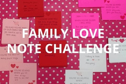 Family love note challenge