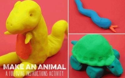 Playdough animals: a Following Instructions activity