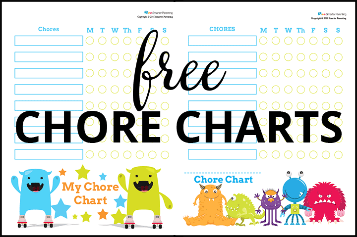 Creating routine with free monster chore charts