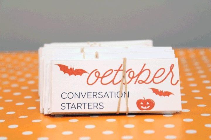 Monthly conversation starters: October