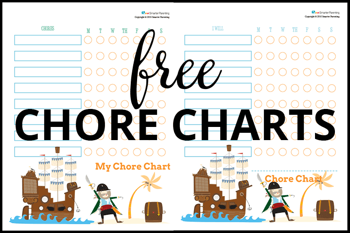 Creating Routine with Free Pirate Chore Charts
