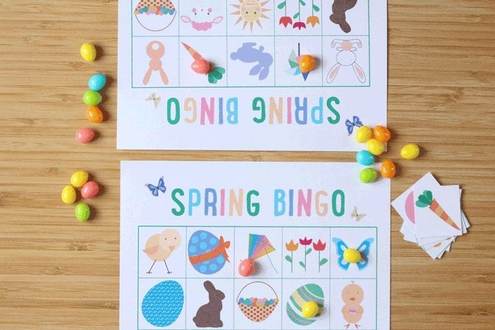Spring bingo printable: A family activity
