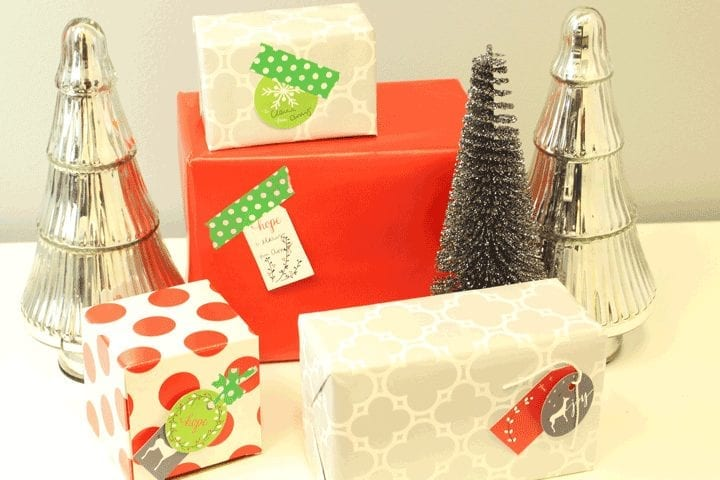 Our gift to you: Christmas tags and wrapping