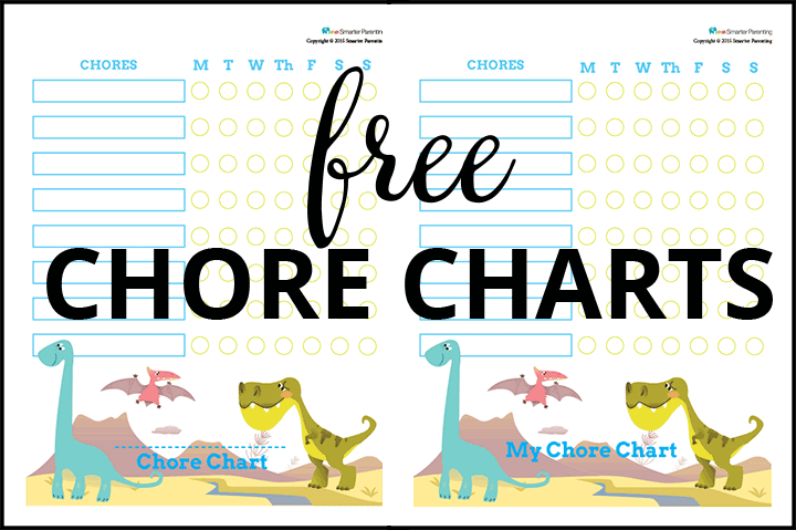 Creating routine with free dinosaur chore charts