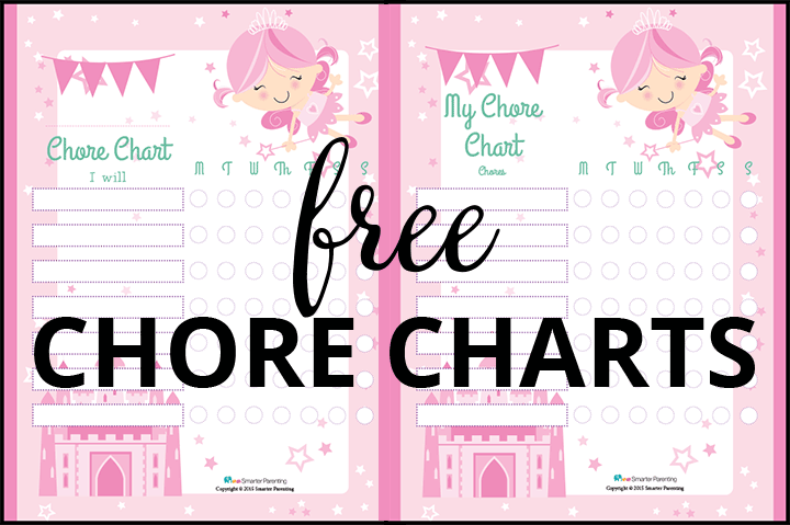 Creating routine with free fairy chore charts