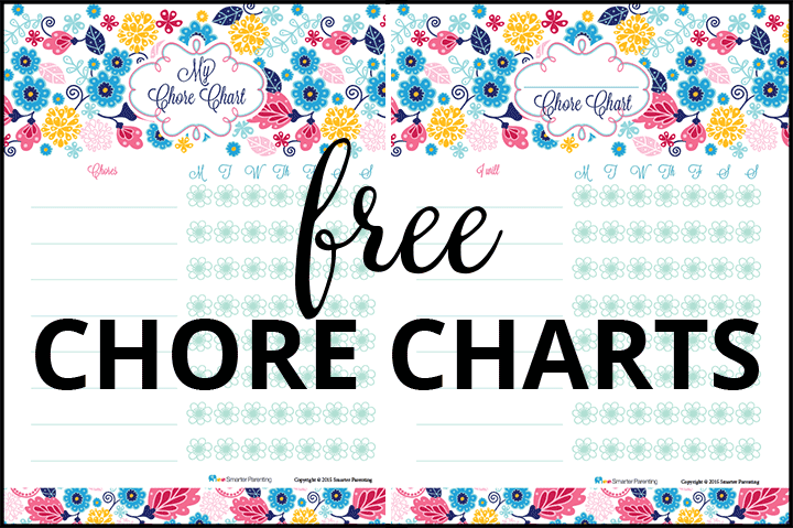 Creating routine with free flower chore charts