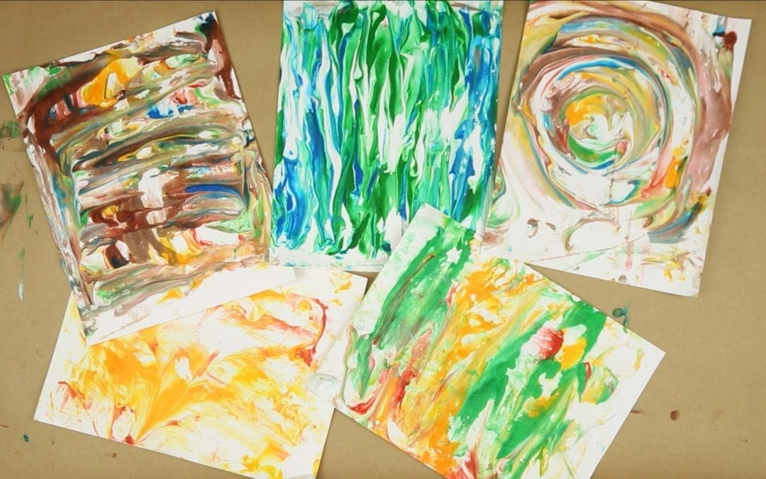 Shaving cream artwork: A Following Instructions activity