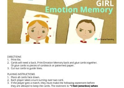 Emotion Memory Game: Girl