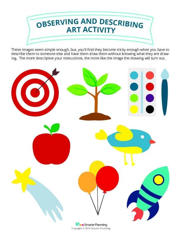 Observe and Describe art activity PDF