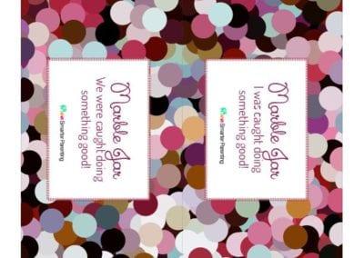 Effective Praise: Marble Jar Multicolor Circles
