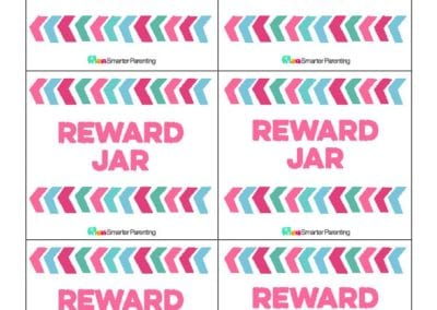 Effective Praise: Reward Jar Pink Arrows