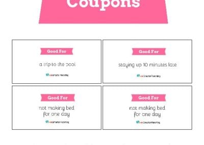 Behavior Coupons: Pink