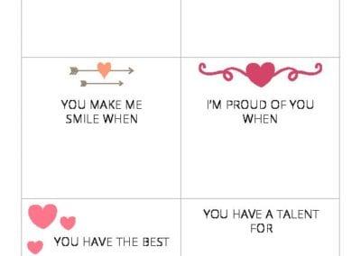 Valentines Love Note