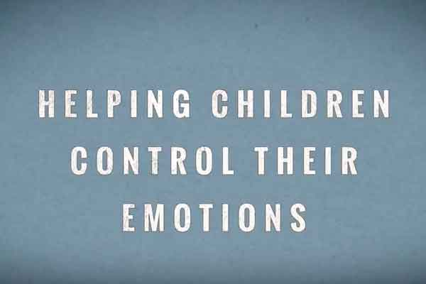 Emotion control for kids using self regulating strategies