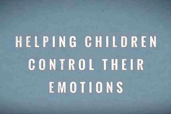Emotion control for kids using self regulating strategies
