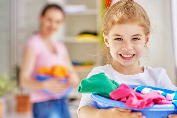 Using chore charts and age appropriate chores