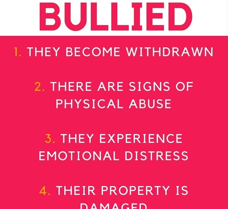 5 signs of bullying