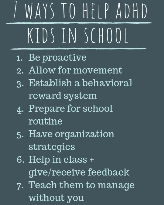 Helping ADHD kid in school